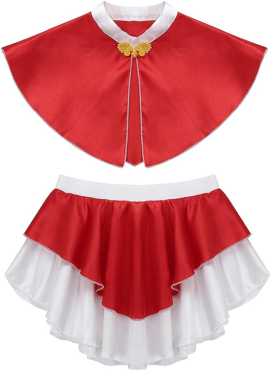 inhzoy Disfraz de Caperucita para Niña Capa Roja con Falda ...
