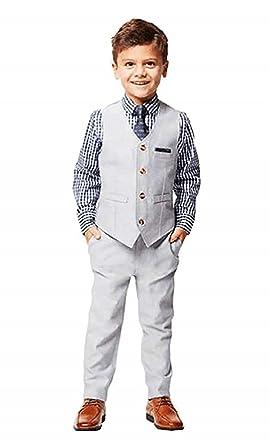 0d05f60dc2e5c5 Amazon.com: Andy & Evan Boys Formal 4-Piece Suit with Vest, Tie ...