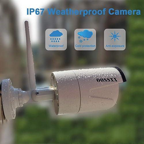 2020 Update OOSSXX 8-Channel HD 1080P Wireless Security Camera System,8Pcs 960P 1.3 Megapixel Wireless Indoor Outdoor IR Bullet IP Cameras,P2P,App