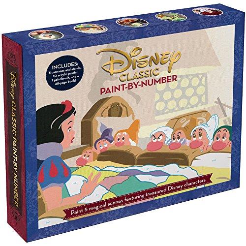 INGRAM PUBLISHING Disney Classic Arylic Paint by Number Set w/ Canvases Display Stands & Brush by INGRAM PUBLISHING (Image #1)
