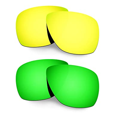 HKUCO Mens Replacement Lenses For Oakley Breadbox Titanium/Emerald Green Sunglasses 6oKTZ4uBN