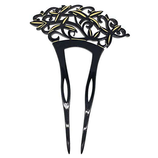 Victorian Wigs, Hand Fan, Purse, Gloves Accessories Acrylic 2-Prong Victorian Style Hair Stick Fork Black $16.80 AT vintagedancer.com