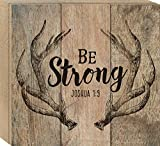 Cheap Be Strong Deer Antlers 10 x 11 PIne Wood Boxed Pallet Wall Art Sign Plaque