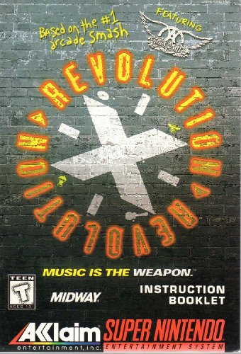 Revolution X Featuring Aerosmith SNES Instruction Booklet (Super Nintendo Manual Only - NO GAME) [Pamphlet only - NO GAME INCLUDED] Nintendo