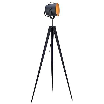 best service d7ece 03e69 Versanora VN-L00020 Industrial Tripod Floor Lamps, Black/Gold