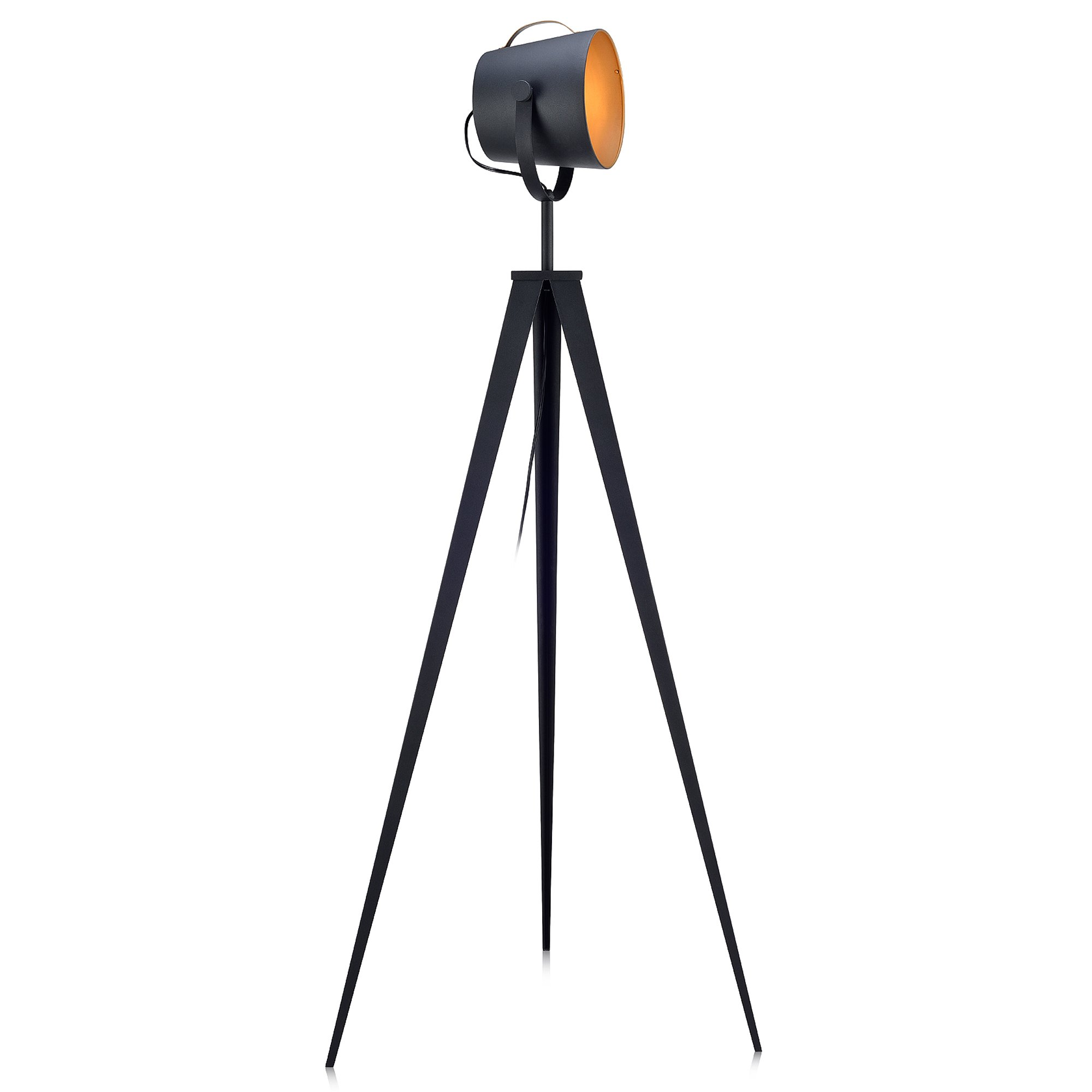 Versanora VN-L00020 Industrial Tripod Floor Lamps, Black/Gold by Versanora