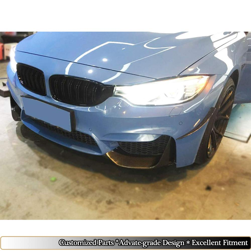 MCARCAR KIT Fits BMW F80 M3 F82 F83 M4 2014-2018 Customized Carbon Fiber Top Fit Front Side Marker Fender Air Wing Vents