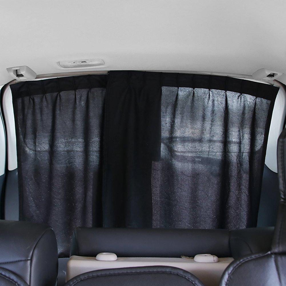 Uong Autofenster Schatten, 2 PC Allgemeine Hintere Fenster Sonnenschutz Vorhang UVschutz Thermische Isolierauto Privatleben Vorhä nge Einfach zu Installation (Grau)