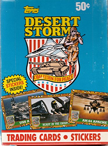 DESERT STORM 1 COALITION FOR PEACE 1991 TOPPS TRADING CARD BOX OF 36 WAX PACKS ()