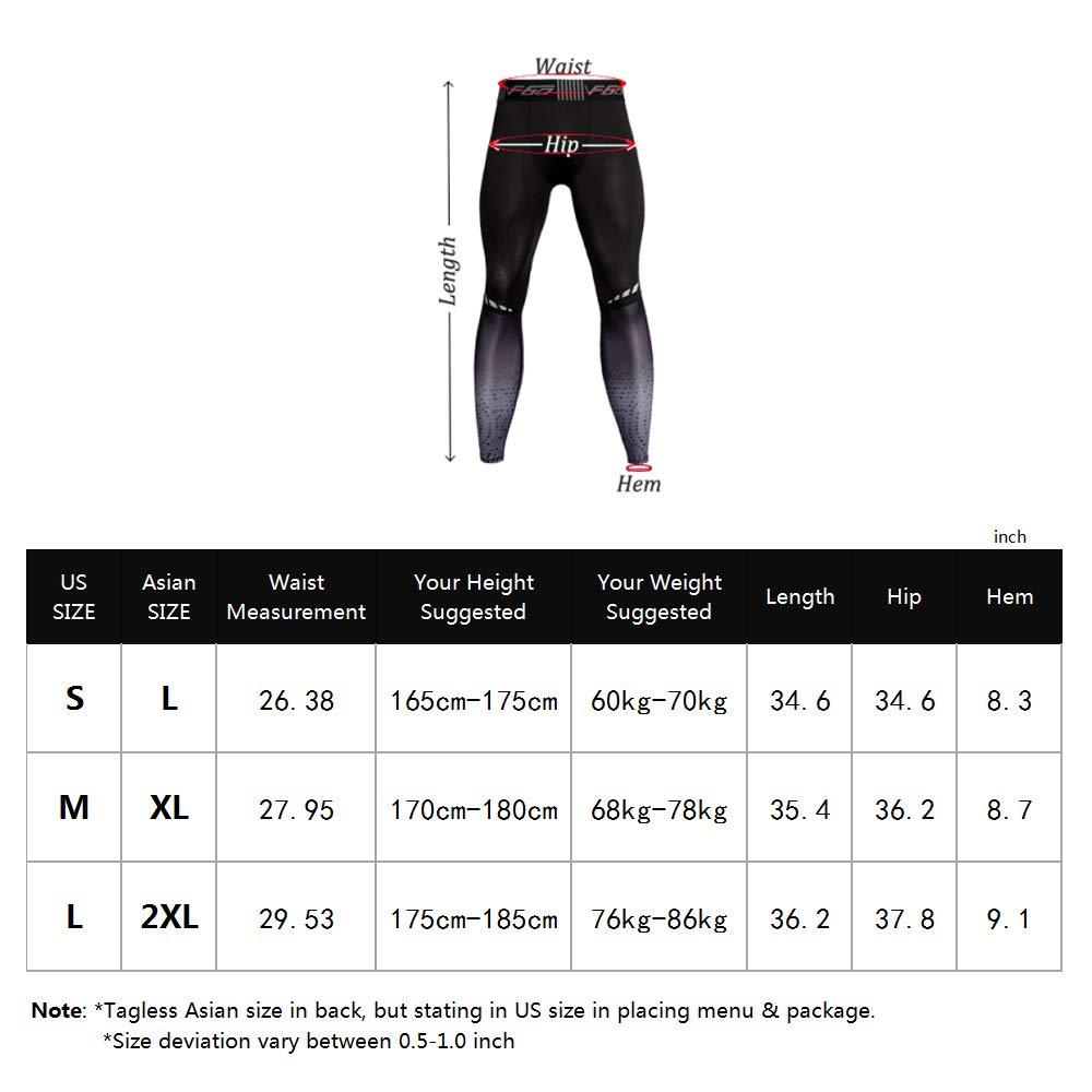 4455a0bbeab8b Amazon.com: Men's Bodybuilding Compression Legging Tights Pants Baselayer  Cool Dry: Clothing