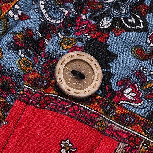 Manteau Blouson Rouge Chauds Elegant Veste Vintage Sweat Poches Hiver Impression À Parka Femmes Retro Steppjacke Capuche Cardgain Avec Reaso Pois Vêtements 5xq7wRn