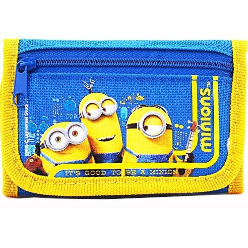 Despicable Me Minions Good Quality Children Blue Trifold Wallet (1 WALLET)