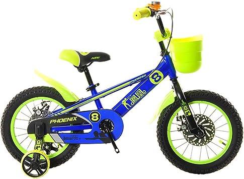 TSDS Bicicleta para niños Bicicleta de montaña de 14 Pulgadas Moda Bicicleta Verde/Azul/roja/Naranja al Aire Libre (Color : C): Amazon.es: Deportes y aire libre