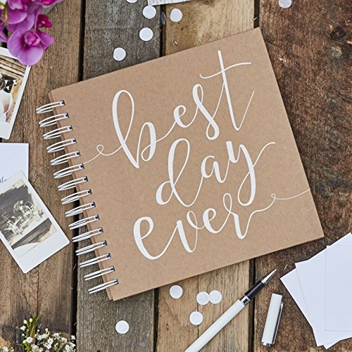 "Ginger Ray Wedding Guest Book Ideas for Rustic Wedding Decorations Wedding Supplies 80 Envelopes & Note Cards 8"" x 8.25"""