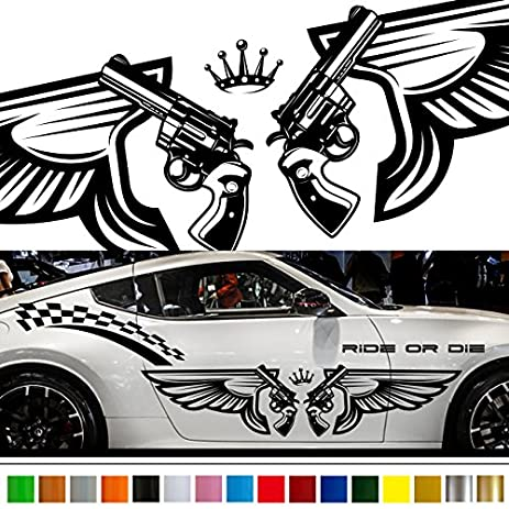 Wing car sticker car vinyl side graphics wa30 car vinylgraphic car custom stickers decals 【8