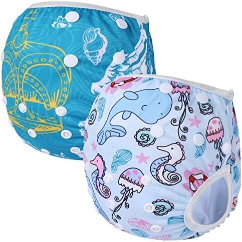 Storeofbaby 2pcs Reusable Baby Swim Diapers (Pack of 2)