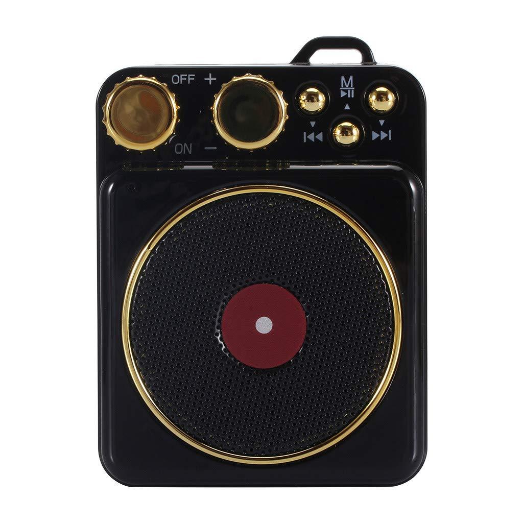Beisoug T10 portátil Vintage Fonógrafo Sonido TF al Aire ...