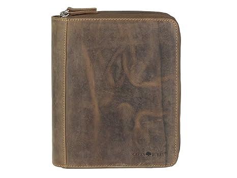 Greenburry - Agenda A5 de piel marrón vintage + monedero ...