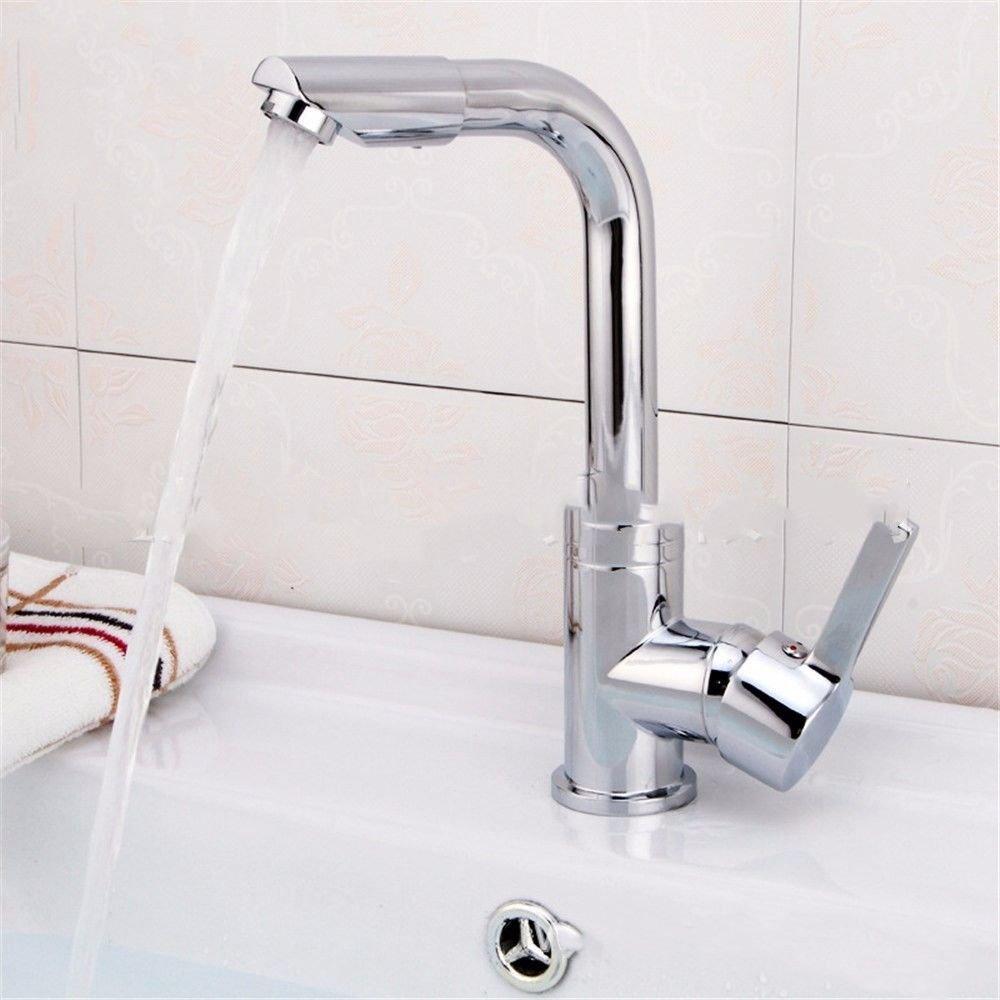 NewBorn Faucet Wasserhähne Warmes und Kaltes Wasser Guter Qualität Die Bäder Sind Komplett Ausgestattete Küche Die Warmen und Kalten Voll Kupfer Einloch Waschbecken Wasser zu Drehen, Tippen Sie auf