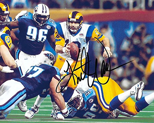 - Kurt Warner, St Louis Rams, Signed, Autographed, Football 8X10 Photo, a Coa with the Proof Photo of Kurt Signing Will Be Included