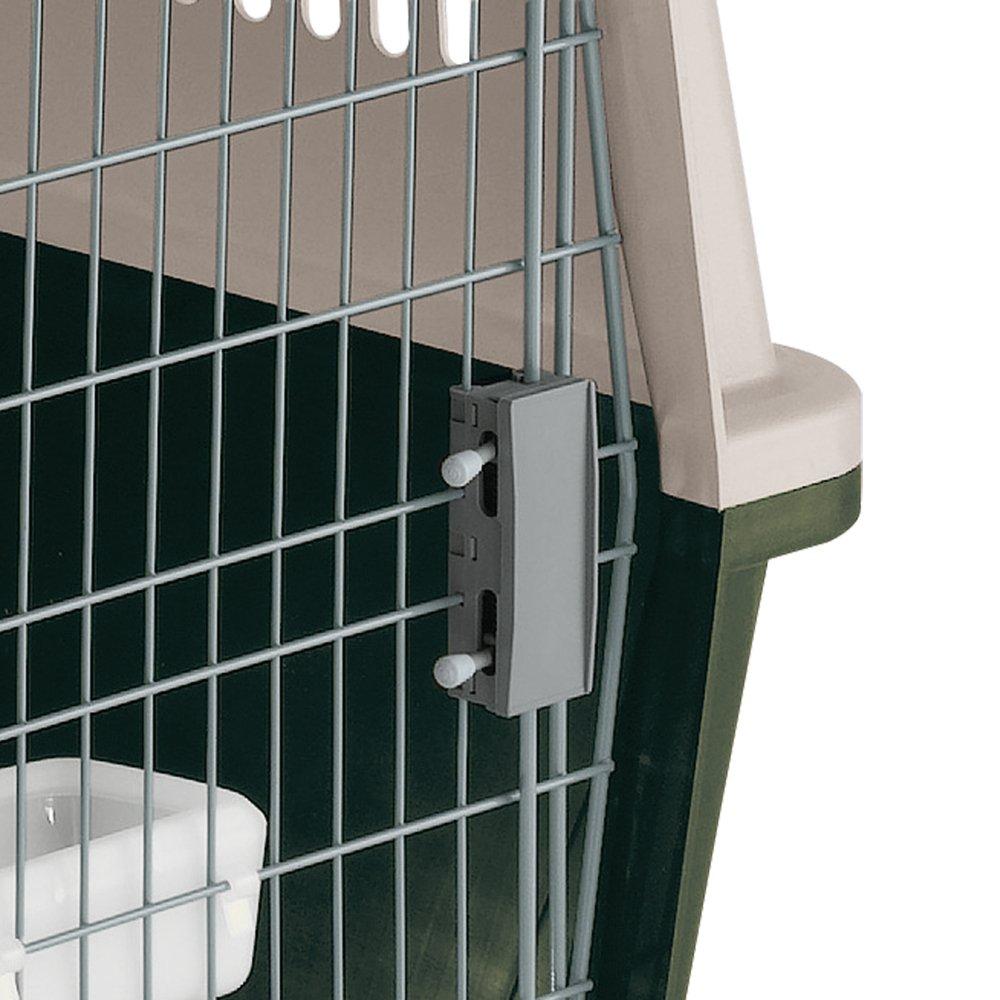 Rejillas de ventilaci/ón Puerta de Acero plastificado con comedero Incluido Cierre de Seguridad 61 x 91 x h 66,5 cm Verde Ferplast Transport/ín para Perros Grandes Atlas 60 Classic