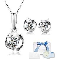 施华洛世奇 采用锆石 925纯银 项链 女士圣诞节礼物 礼品 首饰 珠宝 简约 威尼斯 法式绳