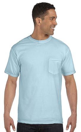 db554c20a Comfort Colors 6.1 oz. Garment-Dyed Pocket T-Shirt, Small, CHAMBRAY