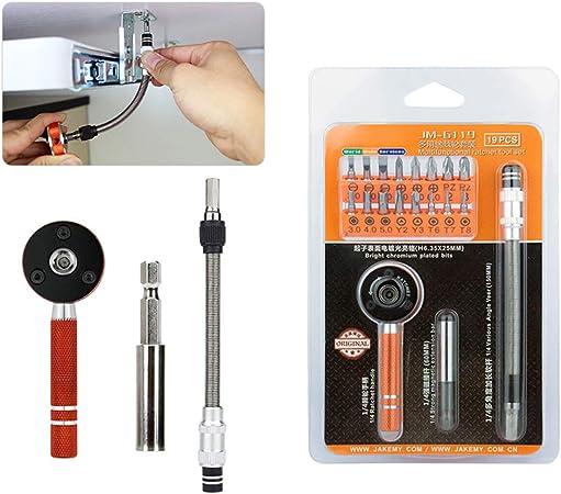 19pcs Multifunction Ratchet Screwdriver Set Torque Wrench Set Flexible Bit Set