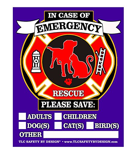 (PET FIRE Rescue Trademarked Safety Alert Emergency Pet Dog Cat 4