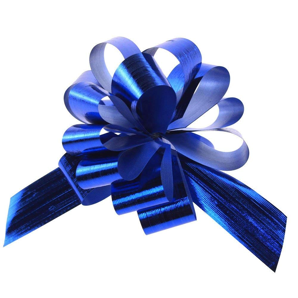 Homeford FNS000007236ROYA Metallic Pull Bows for Gift-Wrapping Royal Blue 5