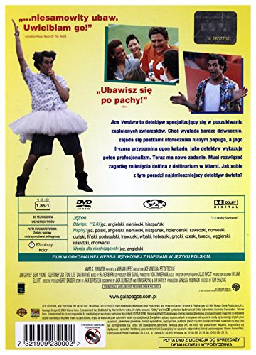 Ace Ventura - Pet Detective [DVD] (English audio. English subtitles)