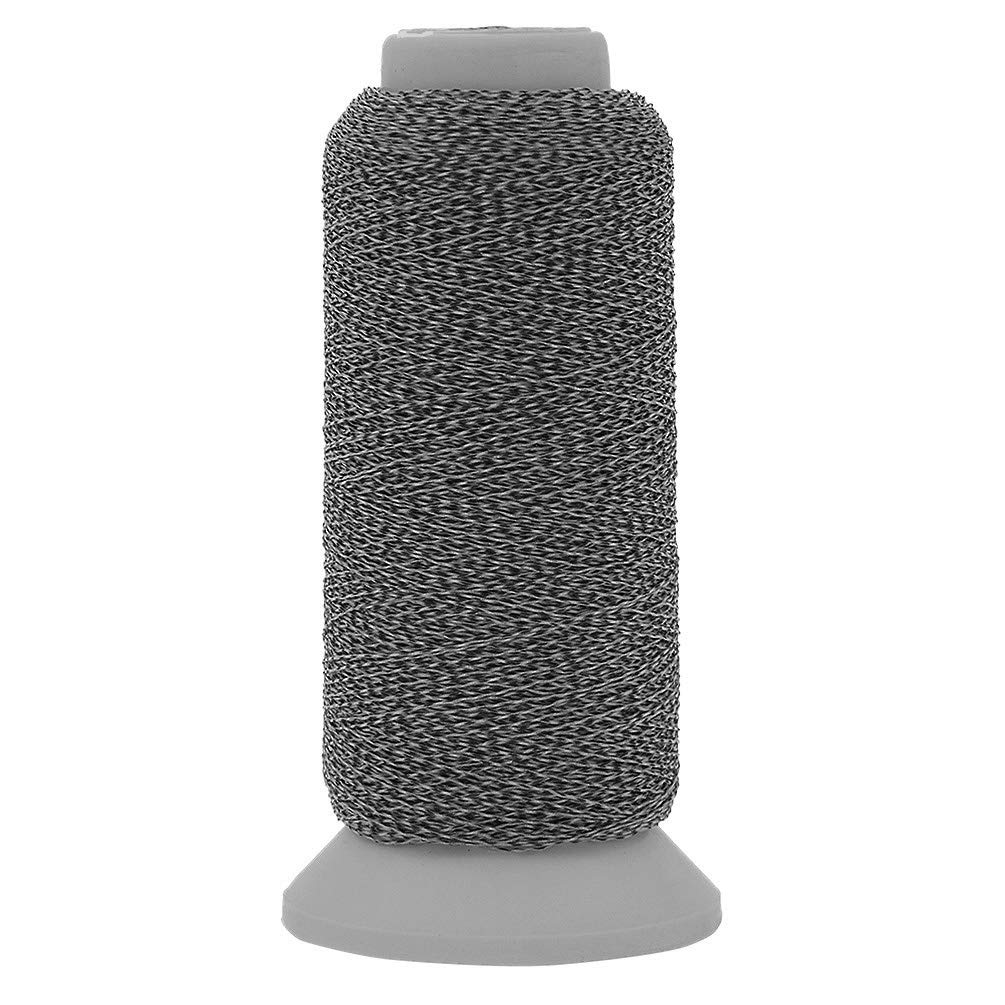 Black, 500m Kesheng 500M Polyester Spools Reflective Nylon Sewing Embroidery Thread Roll Compatible to Sewing Machines for Hat Clothes Artcraft Making