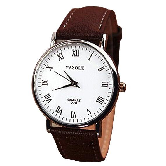 Mens de de cuarzo analógico Relojes – yazole Hombre Reloj de pulsera de Mode piel sintética
