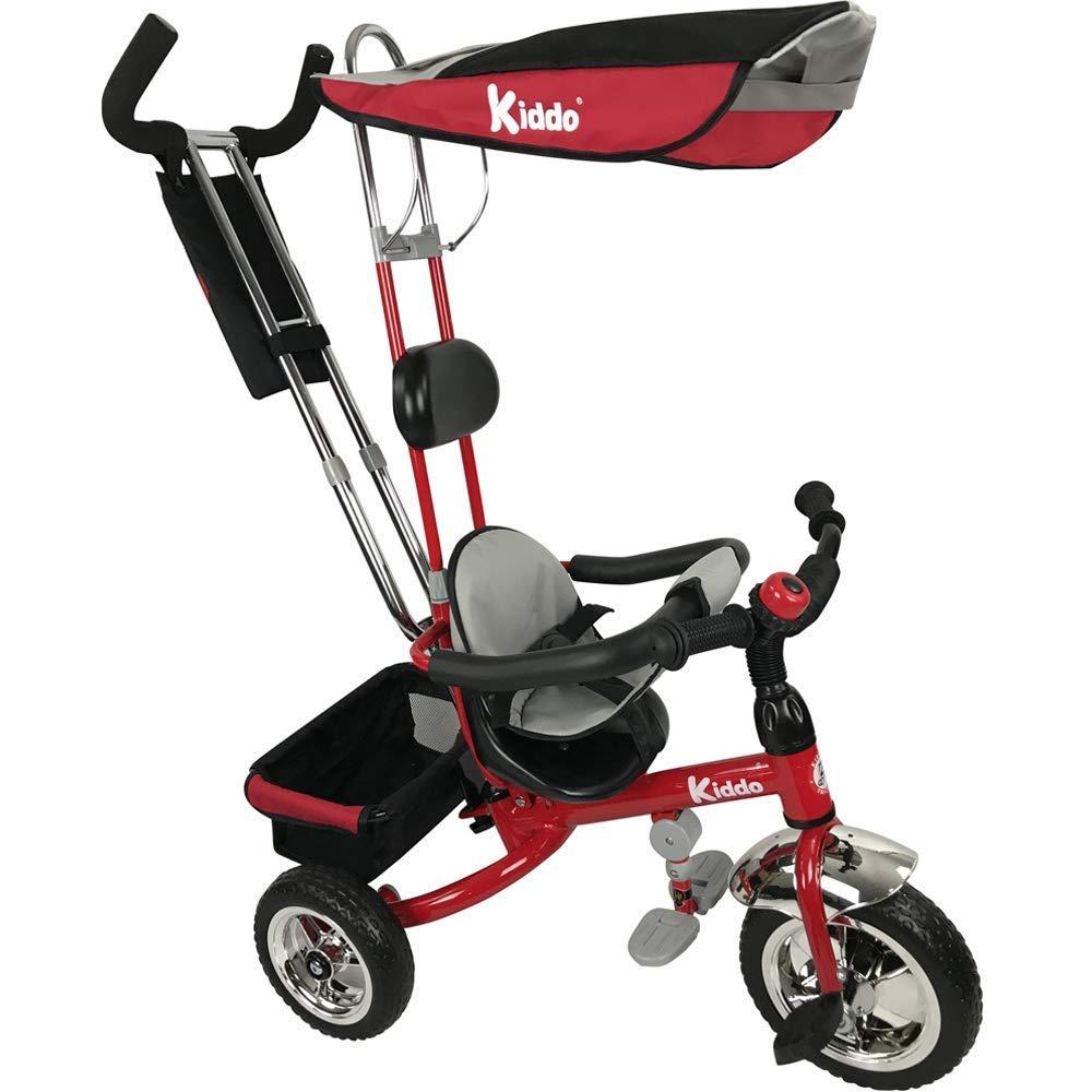 Kiddo Dreirad - 4 in 1 Dreirad Kiddo Rot