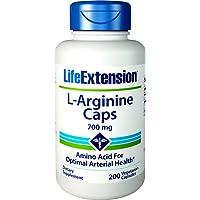 Life Extension L-Arginine Caps (700mg, 200 Vegetarian Capsules)
