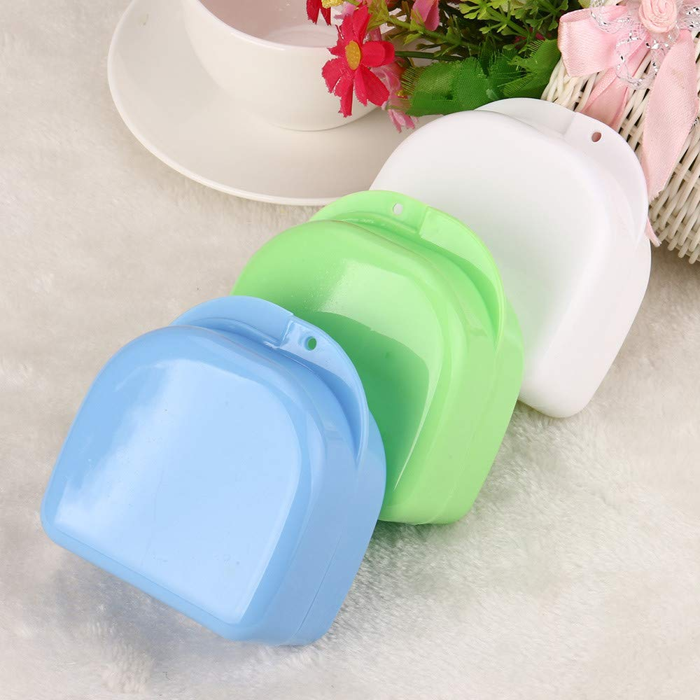 Hohaski Denture Bath Appliance False Teeth Box Storage Case Rinsing Basket Professional Dental Supplies Color Random(White, Blue & Green ) by Hohaski (Image #3)