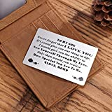Personalized Engraved Message Wallet Card Inserts