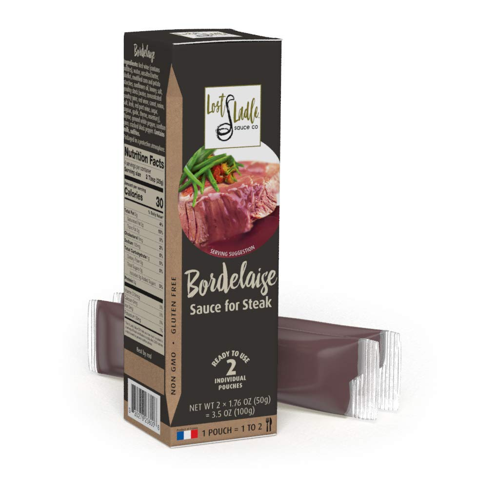 Traditional French Bordelaise Sauce, Ready To Serve, No Added Sugar. A Savory Steak Sauce, Also Pairs Nicely With Pork Chops, Chicken, Game & Lamb