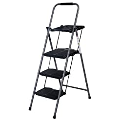 Giantex New Heavy-Duty 3-Step LadderWith Tray