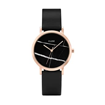 CLUSE La Roche Petite Rose Gold Black Marble Black CL40104 Womens Watch 33mm Leather Strap Minimalistic