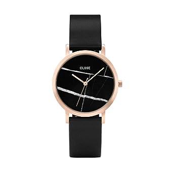 CLUSE La Roche Petite Rose Gold Black Marble Black CL40104 Womens Watch 33mm Leather Strap Minimalistic