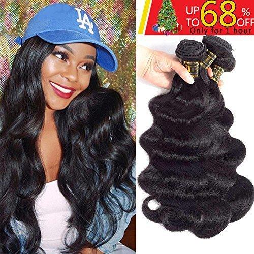 QTHAIR 10A Brazilian Virgin Hair Body Wave 3 Bundles 16