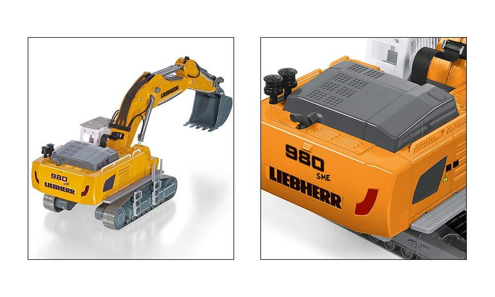 Inkl Batteriebetrieben Ferngesteuert Fernsteuermodul Liebherr R980 SME Bagger 1:32 Viele Funktionen SIKU 6740 Metall//Kunststoff Gelb