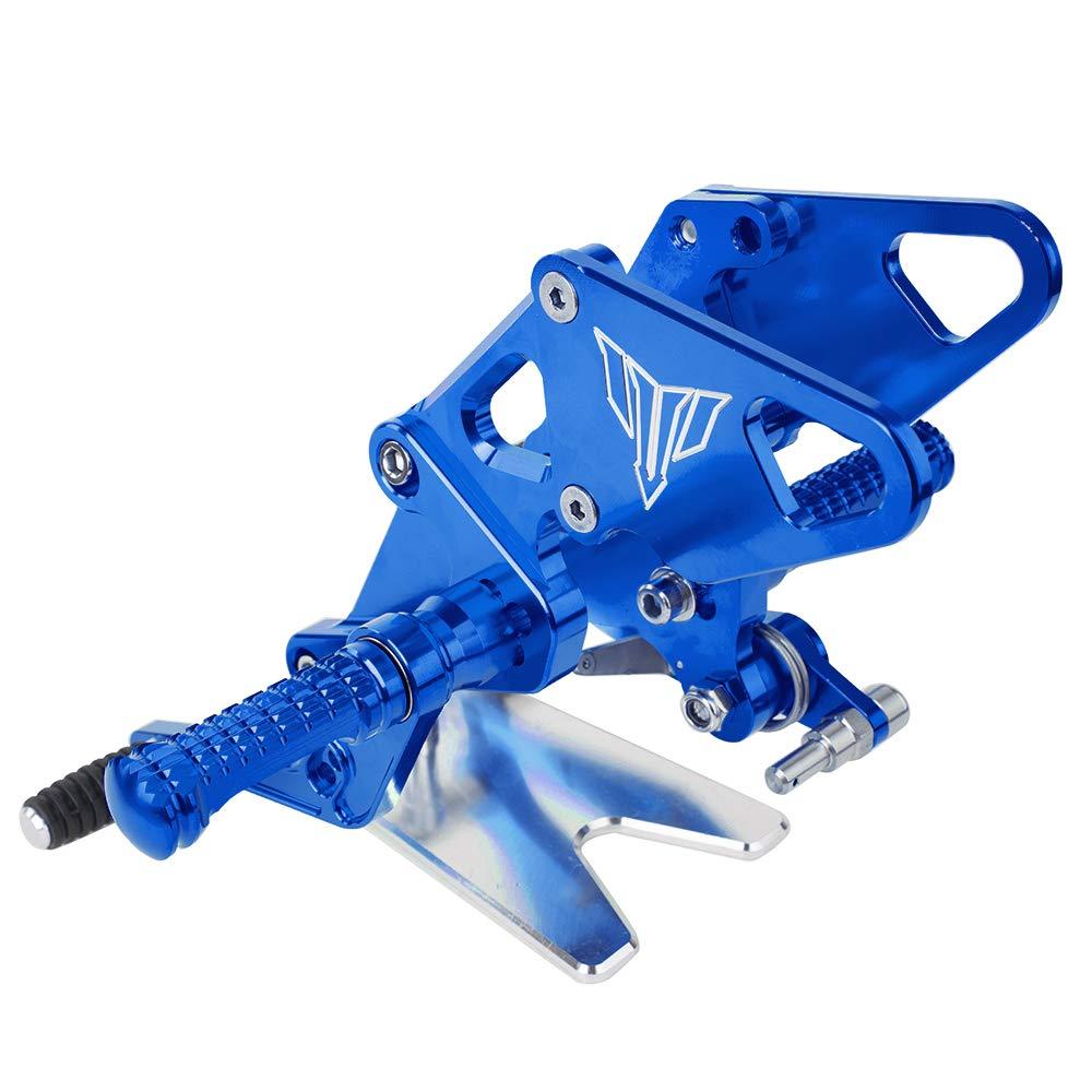 XX eCommerce Moto macchine CNC Billet regolabile piede posteriore impostare Pedana per 2013-2018 Yamaha MT FZ 07 2014 2015 2014 2015 2016 2017