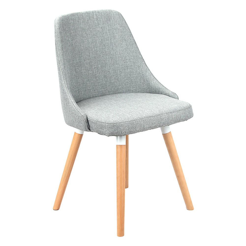 Dark grey 42cmX42cmX45cm Solid Wood Backrest Chair,Nordic Creative Backrest Solid Wood Legs Chairs with Cushioned Pad Contemporary Designer for Office Lounge Dining Kitchen (color   Dark Grey, Size   42cmX42cmX45cm)