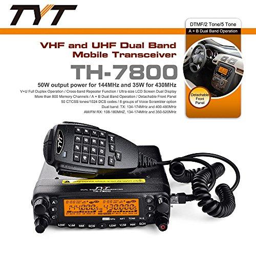 [해외]TYT TH-7800 50W 듀얼 밴드 듀얼 디스플레이 리피터 자동차 트럭 햄 라디오/TYT TH-7800 50W Dual Band Dual Display Repeater Car Truck Ham Radio
