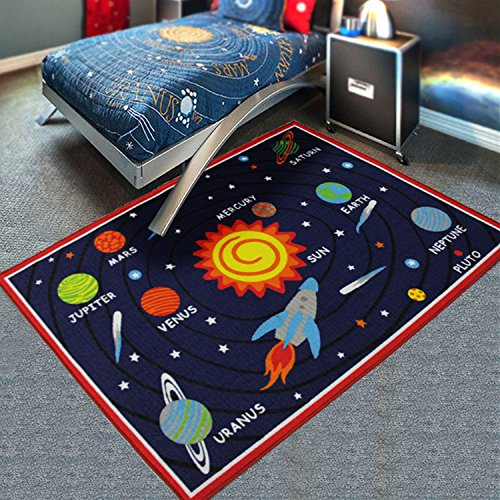 Children's room-bedroom home crawling baby game universe floor carpets,The solar system by Bopm