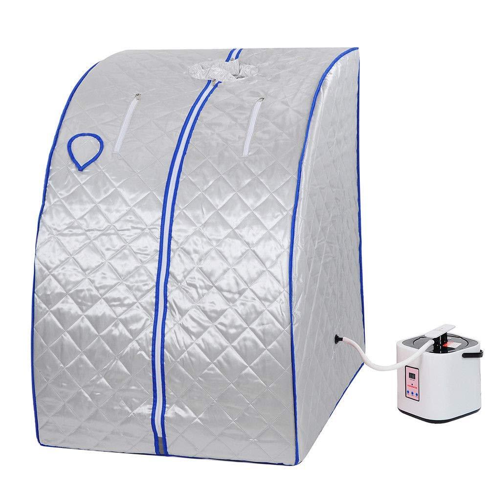 2l Portable Steam Sauna Tent SPA Detox Weight Loss w/ Chair (Blue) GC Global Direct