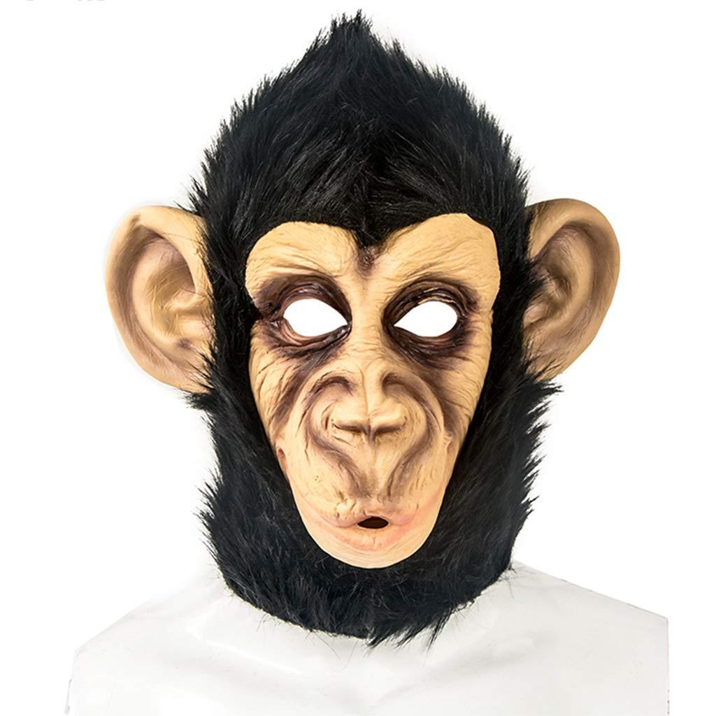 Máscara de Navidad de Halloween Máscara de orangután Máscara de Gorra Máscara de Fiesta de Halloween de Fiesta de Baile máscara Máscaras (Color : Brown, Size : 29CM/11inch)