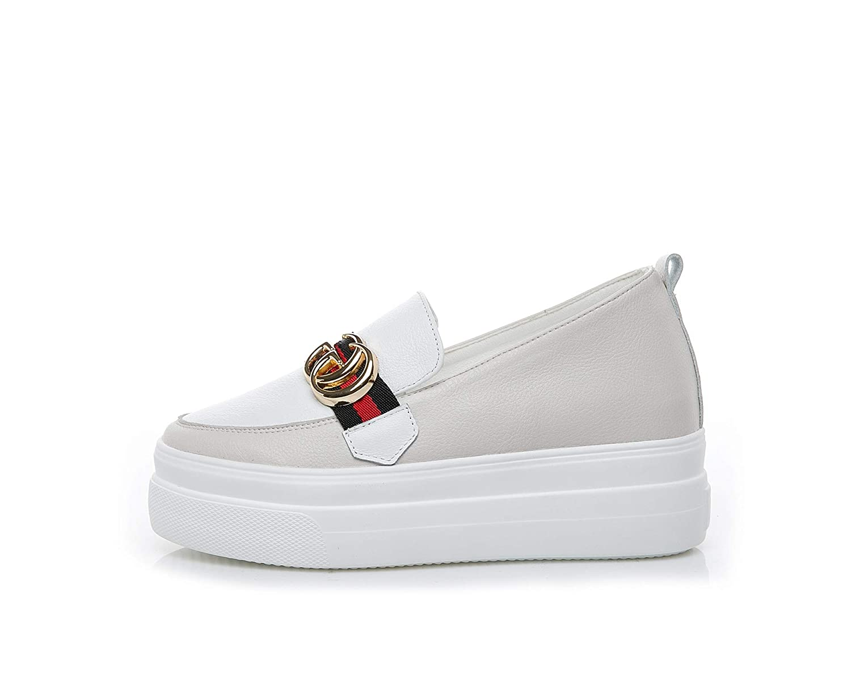 KPHY Damenschuhe - Dick Unten Schuhe Schuhe Schuhe Leder Freizeit Erhöht Faul Schuhe s 35 395074